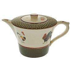 Niderviller Faience Cour Normande Rooster Tea Pot Pierre Deux - 20th Century, France