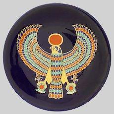 Egyptian Falcon Tutankhamun Porcelain Plate Limoges Haviland Limited Edition
