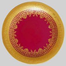 DW Karlsbad Art Deco Gold Encrusted Porcelain Cabinet Plate after 1921