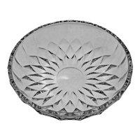 Val St Lambert Serving Bowl / Centerpiece / Fruit Bowl Modern Cut Crystal VSL Imperial Pattern - 20th Century, Belgium