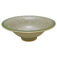 "Large 8.5"" dia. Royal Copenhagen Crackle Glaze Ceramic Footed Bowl Tazza 459/2666 Thorkild Olsen - 1960's, Denmark"