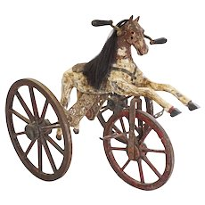 Velocipede Horse Tricycle Antique Child's Toy - circa 19th Century, France