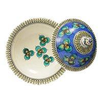 Vintage Moroccan Arabian Lidded Bowl Signed - 20th Century, Morocco
