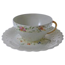 Georges Boyer Limoges Trianon Tea Cup and Saucer - c. 20th Century, France