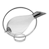 Christofle Fidelio Duck Shape Decanter Cradle Pourer Server Glass Silver Plate - 20th Century, France