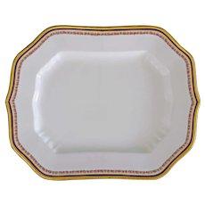 Art Deco English Cauldon Porcelain Serving Platter Large 4859 - 1904-1920 mark, England