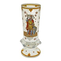 Enamel Glass Goblet Prunt Armorial Medieval Knight Shield German Pokal Historicism