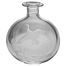 Steuben Glass Mallard Duck Decanter Houston Numbered Limited Edition Crystal Signed - 20th Century, USA