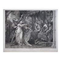 Antique Stipple Engraving Shakespeare Hamlet Ophelia - 19th Century, England
