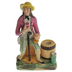 Antique Smoking Stand Cigar Match Holder Set Figurine Staffordshire Style