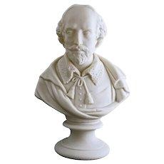 Shakespeare English Parian Bust Bevington J&TB 186 Antique - circa pre 1870, England