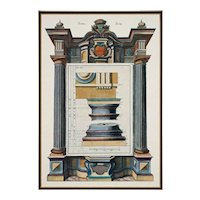 Pair Architectural Columns after Giorgio Fossati Framed Color Prints