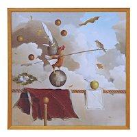 Jeff Faust Surrealist Fine Art Limited Edition Sacred Balance Framed Giclée Digital Print on Canvas