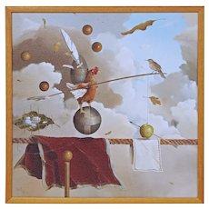 Jeff Faust Limited Edition 1952 Surrealist Art 25/275 - 20th Century, USA