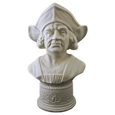 Christopher Columbus Bust Boehm Large 11.5 Inches Tall - 20th Century, USA