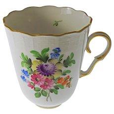 Herend 713 Trembluese Cup Porcelain Multicolor Floral Bouquet- 20th Century, Hungary