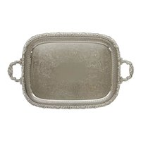 Barker Brothers Silver Co. Butler Rectangular Handled Serving Tray Open Bar Serving Tray Drinks Barware - 20th Century, England