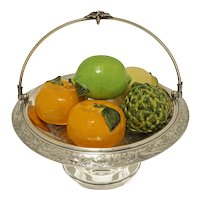 Silverplate Basket / Compote / Tazza / Footed Bowl / Meriden 1745 Americana - 19th Century, USA