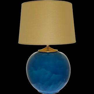 Large Round Primavera Lamp Signed - circa 1930's, France