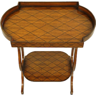 Maitland Smith End Table Two Tier Side Occasional Tray 20th Century