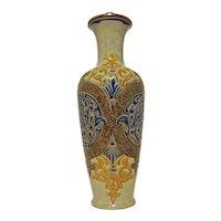 Louise E. Edwards for Doulton Lambeth Antique Stoneware Lamp / Vase - 1883, England