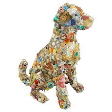 Recycled Sculpture Dog Art Life Size Reclaimed Discarded Found Objects