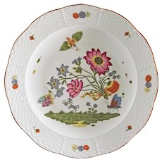 Butterflies Flowers Limoges Porcelain Plate MMA Haviland - 20th Century, France