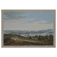 Antique Oxford Etching Framed after Farington R.A. Boydell Stadler Topographical Print - circa 19th C., England