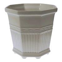 Rorstrand Porcelain Cachepot / Flower Pot / Planter / Jardiniere White Octagonal - 20th C., Sweden