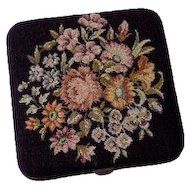 Antique Lady's Cigarette Case Textile - c. 19th Century