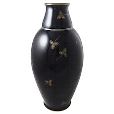 Sevres Felix Aubert N°40  Art Deco Cobalt Gilt Porcelain Vase Large 16 Inch Tall - France, 1926