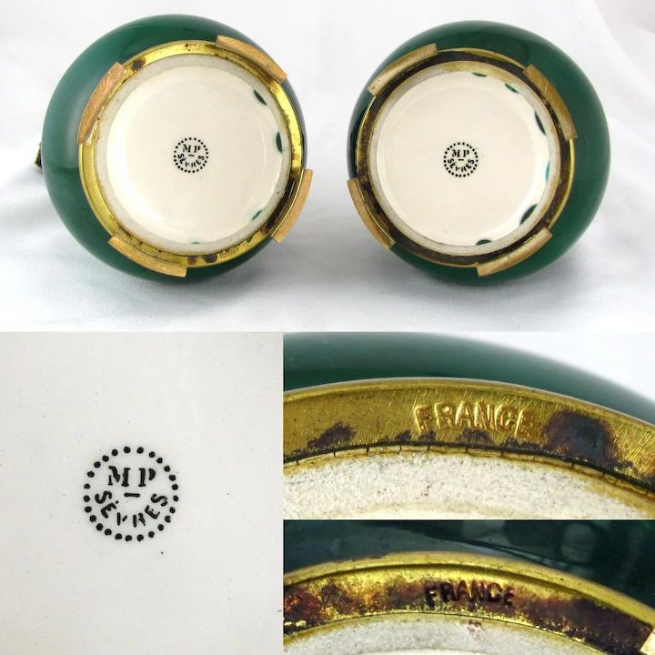 Pair Of Paul Milet For Sevres Vases French Porcelain Signed The