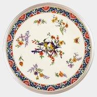 Tetard French Sterling Silver & Limoges Porcelain Plate
