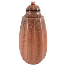 Art Deco Paul Milet French Sevres Ceramic Tall Lidded Urn Vase