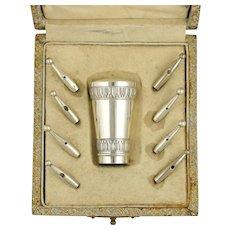 Antique French .800 Silver Parasol Umbrella or Dress Cane Handle