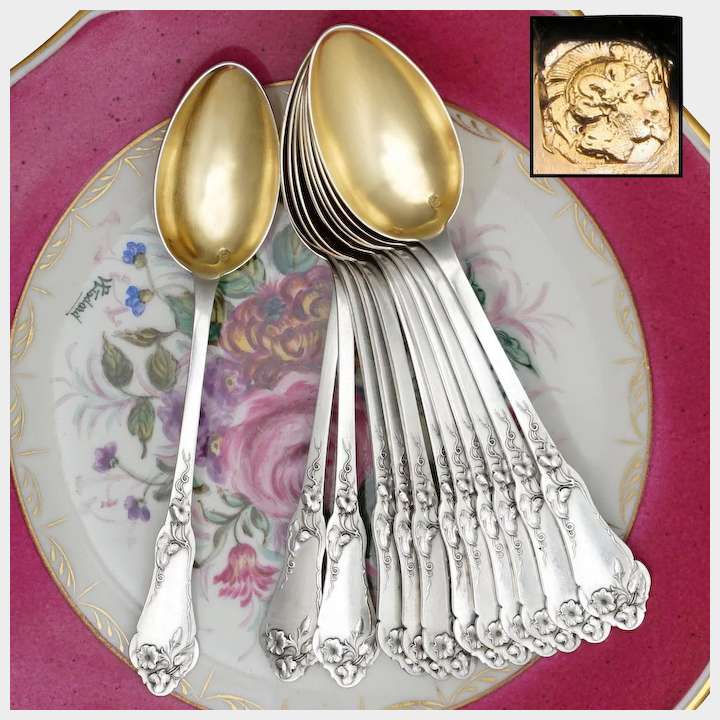 French Sterling Silver Teaspoons