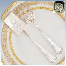 Antique French Sterling Silver Hors d'Oeuvre Pâté & Fork Servers Set
