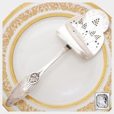 CARDEILHAC French All Sterling Silver Asparagus / Pastry Server, Lucien Bonvallet Art Nouveau Design