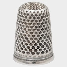 Antique French .800 Silver Sewing Thimble,  Plumont -Lorillon