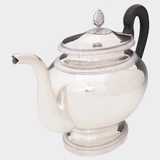 Antique 19thc French Sterling Silver Teapot, 1052.5g, Empire Style