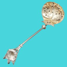Antique Gorham Sterling Silver Tiffany & Co Morning Glory Pierced Ladle Spoon