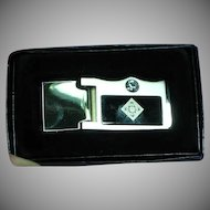 NOS MIB Men's MONEY CLIP Circa 1950 Crafted in Silver Plate