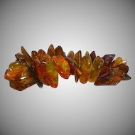 Amber Genuine Natural Raw Baltic Chunks with INSECT BUG Parts! Stretch Bracelet