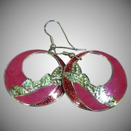 Edgar Berebi Enamel Drop Hoop Pierced Earrings