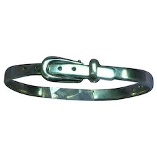 Taxco Mexico Sterling Silver Buckle Bracelet