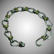 Mexican Modernist Vintage Heavy Sterling Silver Bracelet