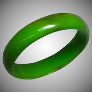 Wonderful Old Bakelite  Marbleized Bangle Bracelet
