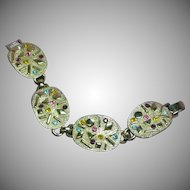 Sarah Coventry Mod Space Age Rhinestone Abstract Bracelet