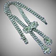 Rhinestone Lariat - Bolero Choker Necklace