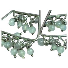 Genuine Gemstones Gorgeous Labradorite and Sterling Silver Dangle Pierced Earrings